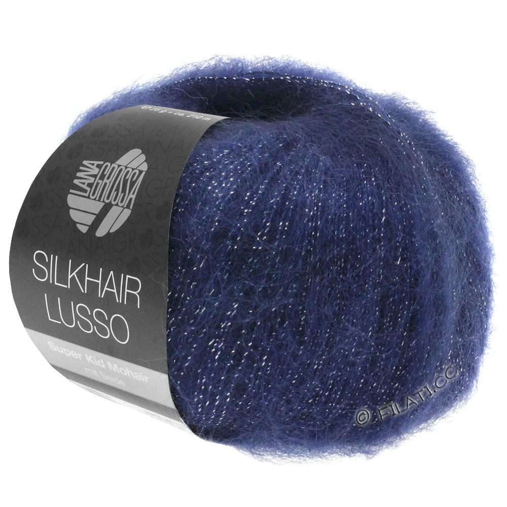 Lana Grossa SILKHAIR Lusso | 907-azul oscuroro