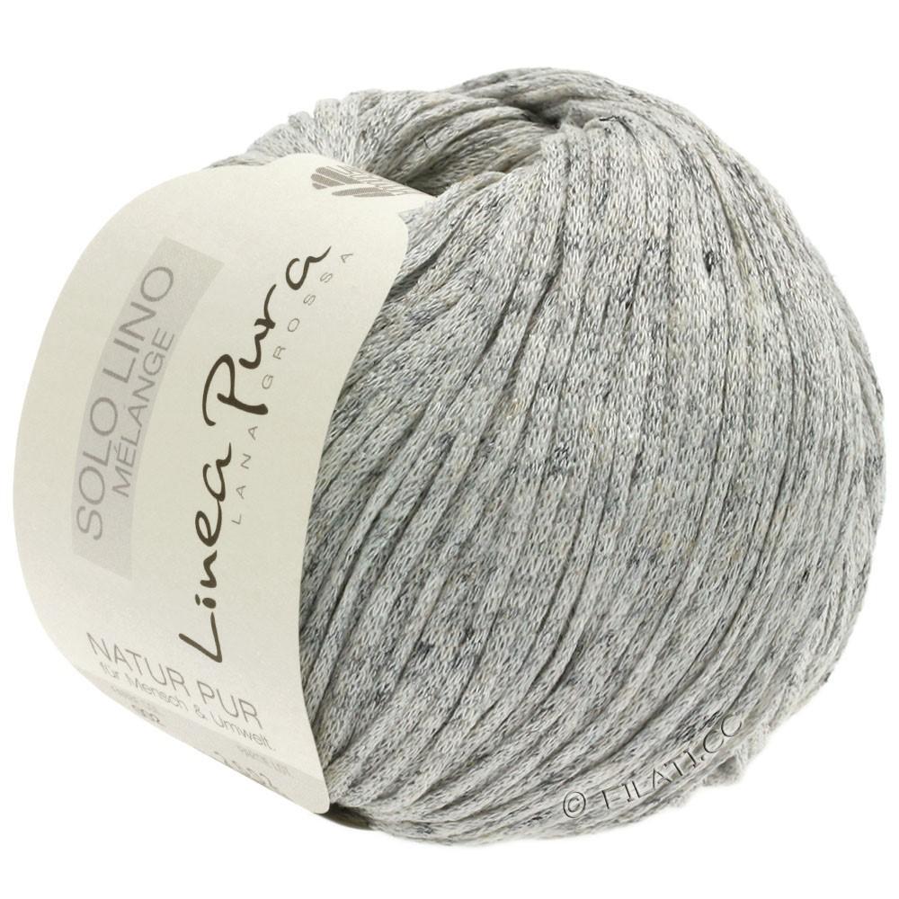 Lana Grossa SOLO LINO MELANGE (Linea Pura) | 102-gris claro mezcla