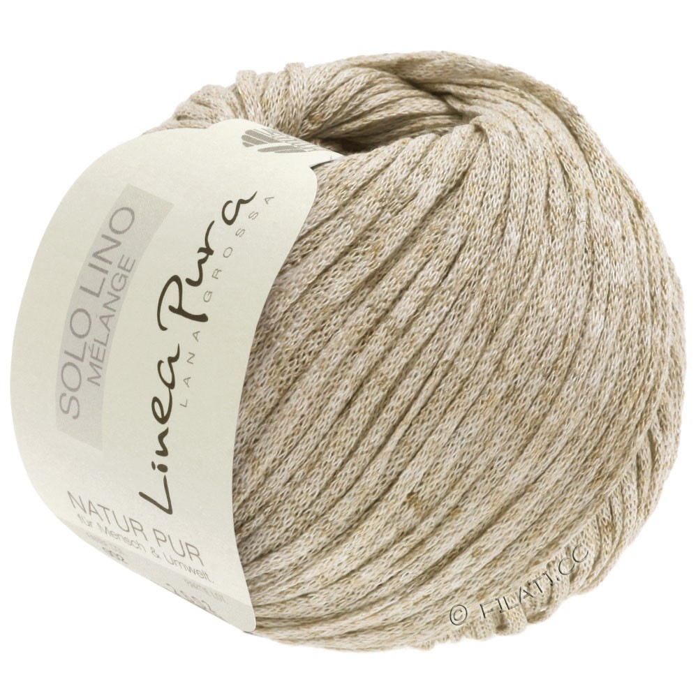 Lana Grossa SOLO LINO MELANGE (Linea Pura) | 103-beige mezcla