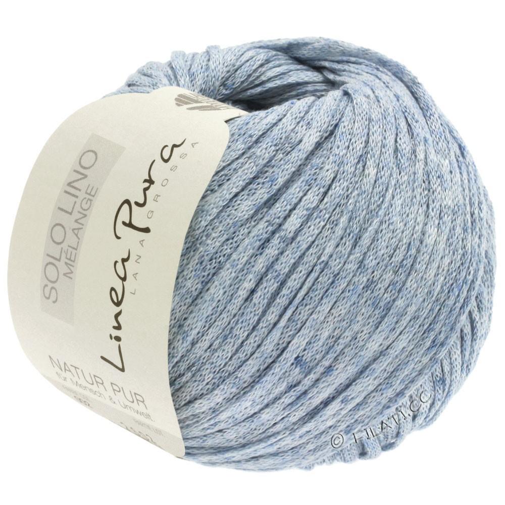 Lana Grossa SOLO LINO MELANGE (Linea Pura) | 108-azul pastel mezcla
