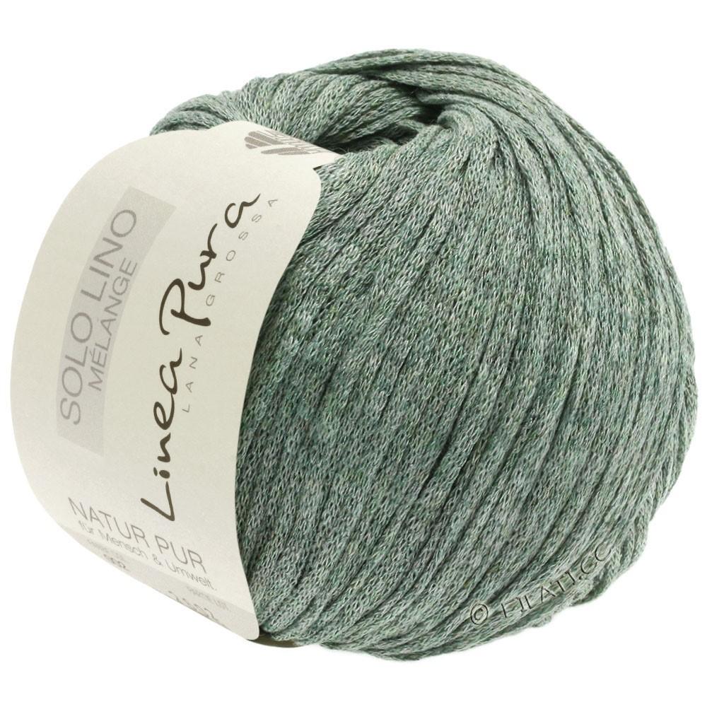 Lana Grossa SOLO LINO MELANGE (Linea Pura) | 109-gris verde mezcla