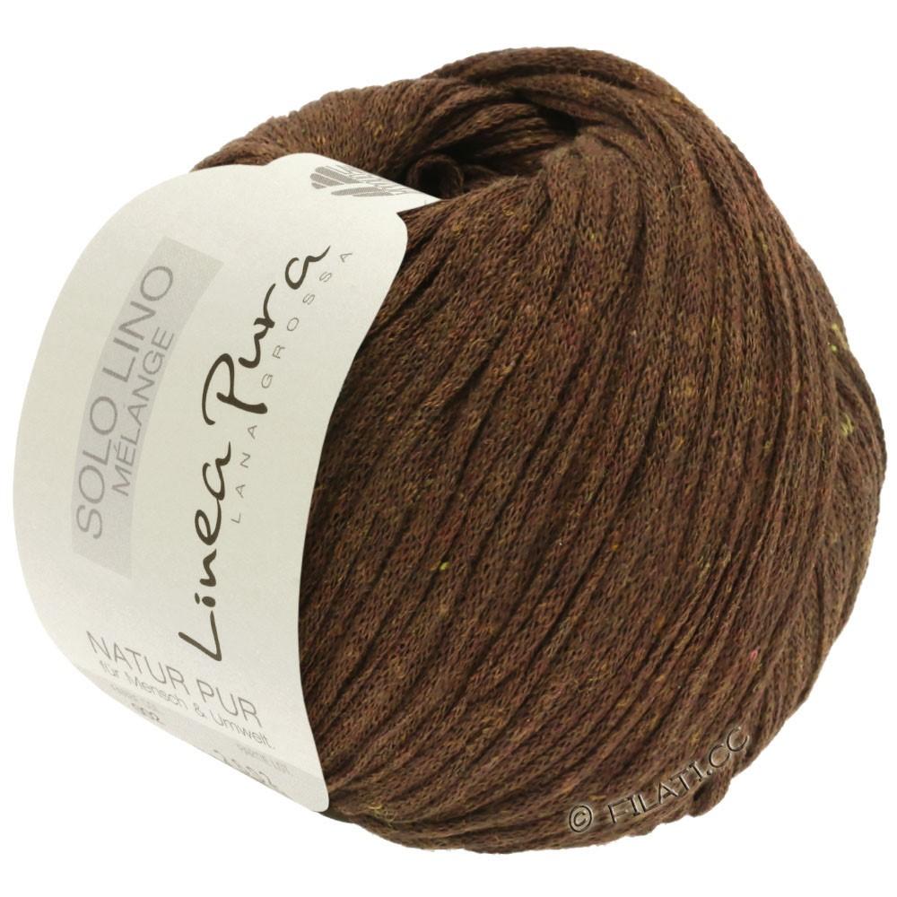 Lana Grossa SOLO LINO MELANGE (Linea Pura) | 117-marrón oscuro mezcla