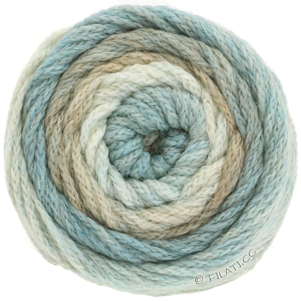 Lana Grossa SUPER COLOR | 101-naturaleza/beige/azul claro/azul beige