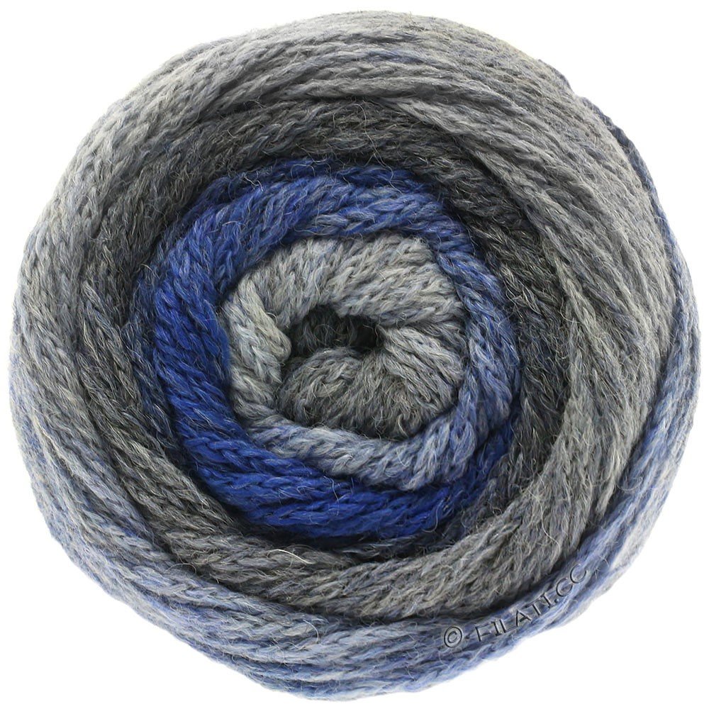 Lana Grossa SUPER COLOR | 104-gris claro/gris oscuro/jeans/real