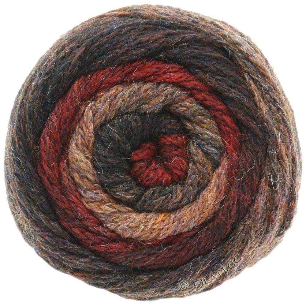 Lana Grossa SUPER COLOR | 107-turrón/rojo oscuro/gris marrón/moca