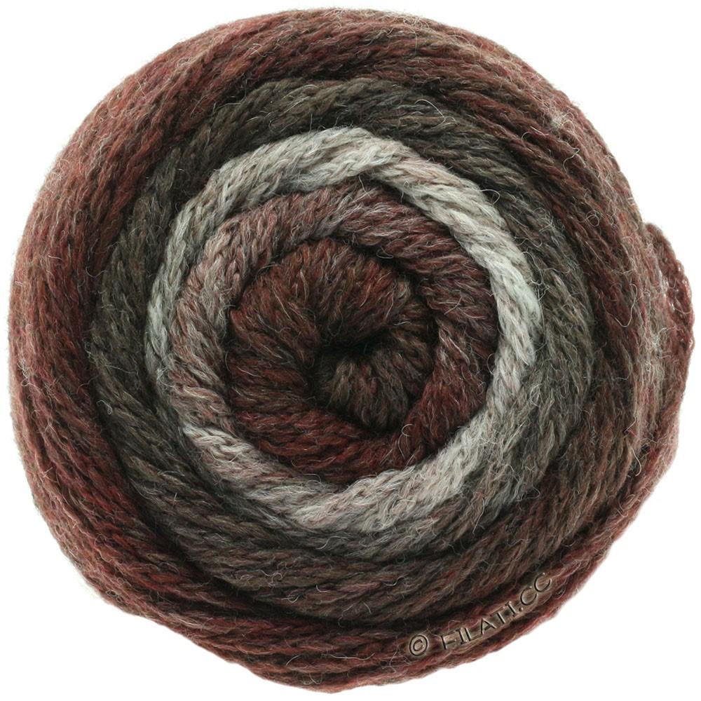 Lana Grossa SUPER COLOR | 108-naturaleza/gris marrón/gris rojo/zarzamora