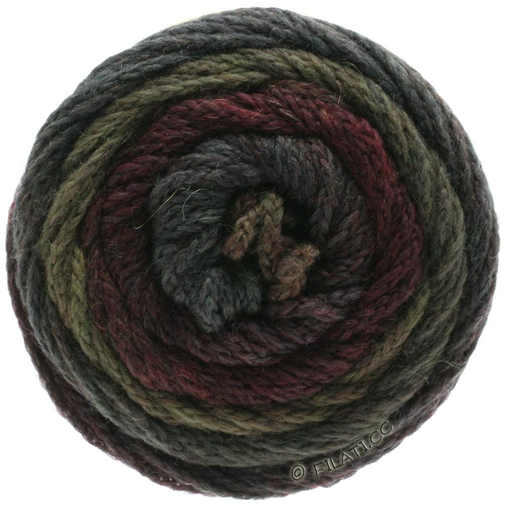 Lana Grossa SUPER COLOR | 114-rojo negro/fango/antracita