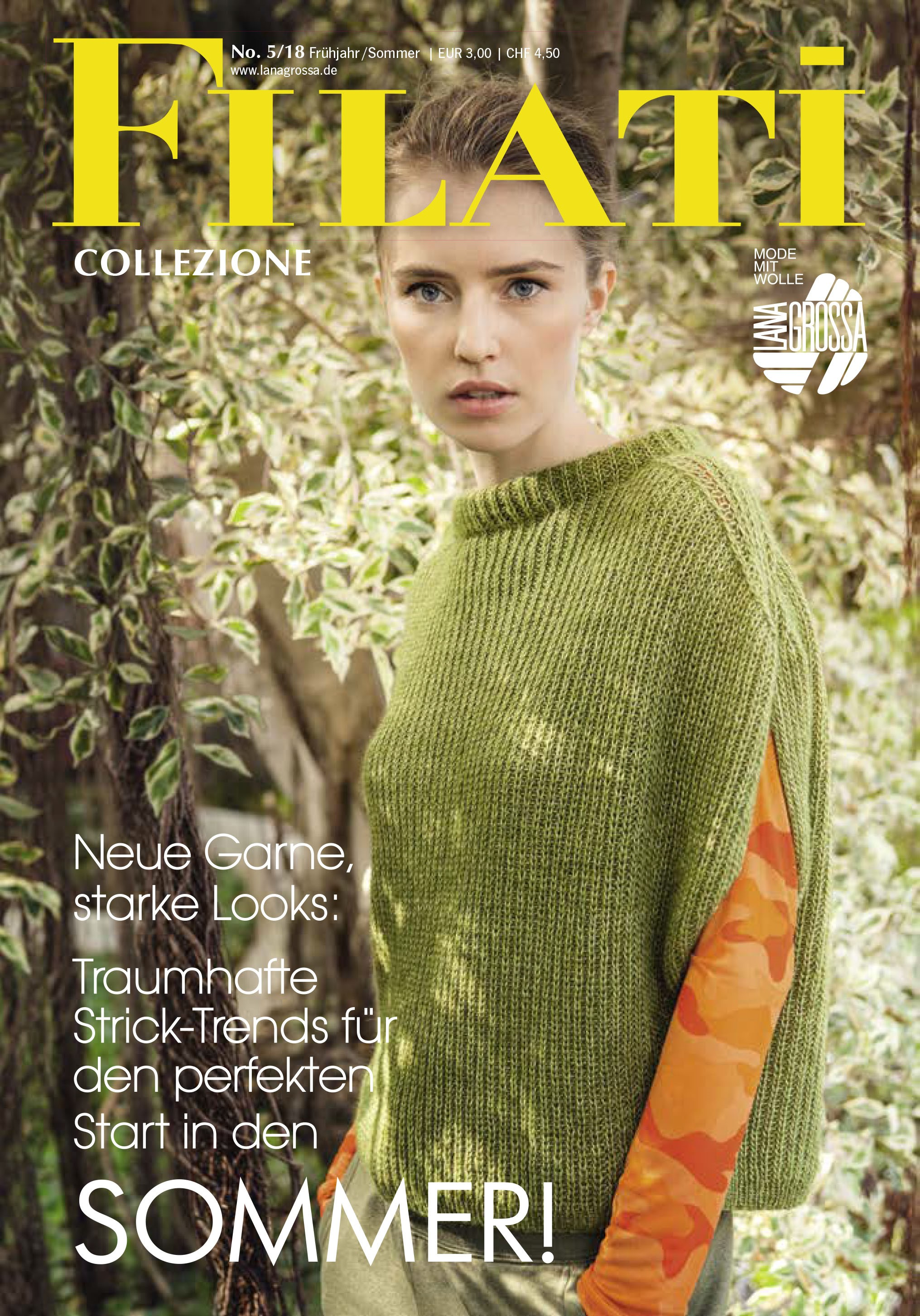 Lana Grossa FILATI COLLEZIONE No. 5 - Magazine (DE) + Knitting instructions (EN)